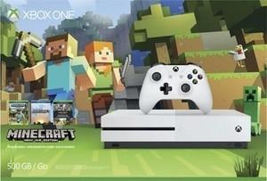 Xbox One S 500GB Minecraft Favorites Console Bundle - Robot White