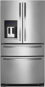 Whirlpool 25.0 Cu. Ft. French Door Refrigerator with Thru-the-Door Ice and Water - Monochromatic Stainless Steel