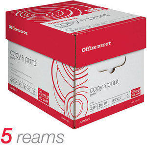 500 Sheets of Office Depot Brand Copy & Print Paper