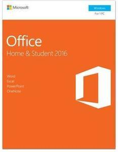 Microsoft Office Home and Student 2016 Product Key Card