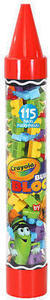 Crayola 115 Piece Construction Building Blocks Crayon Tube