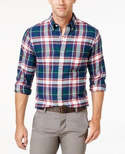 John Ashford Men's Long-Sleeve Flannel Shirt