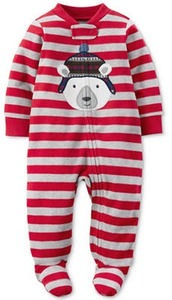 Carters 1-Pc. Striped Polar Bear Footed Coverall, Baby Boys (0-24 months)