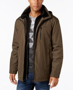Calvin Klein Men's Hooded Fleece Lined Coat