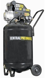 Central 21 Gallon 2.5 Hp 125 Psi Oil Lube Air Compressor