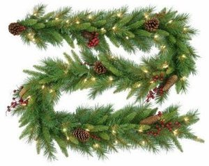 9 ft. x 10 in. Woodland Berry Garland
