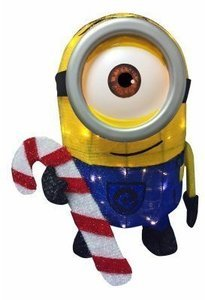 "28"" Tinsel Minion LED lights includes lawn stakes"