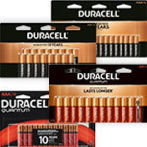 Duracell 8 pk. AA or AAA Alkaline Batteries or 2 pk. 9V, 4pk. C or D Alkaline Batteries