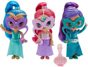 Fisher-Price Shimmer and Shine Genie Masquerade Ball Dress and Mask Doll 3-Pack