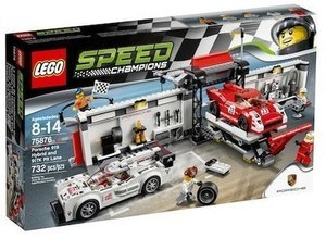 LEGO Speed Champions Porsche 919 Hybrid and 917K Pit Lane