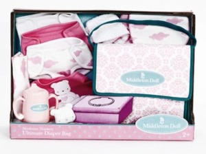 Middleton Doll Newborn Nursery Ultimate Diaper Bag and Accessory