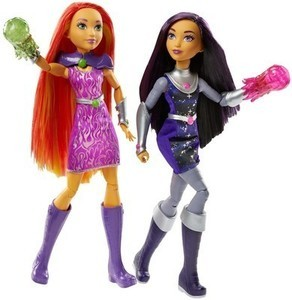 "DC Super Hero Girls' Intergalactic Sisters Starfire and Blackfire 12"" Action Doll 2pk"