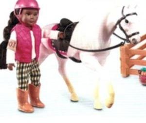 "Lori 6"" Doll Horse"