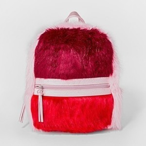 Girls' Colorblock Faux Fur Backpack
