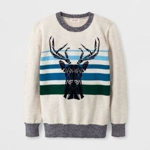 Boys' Long Sleeve Crew Pullover Sweater