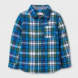 Toddler Boys' Long Sleeve Button Down Shirt - Cat & Jack