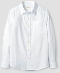 Boys' Long Sleeve Button Down Oxford Shirt - Cat & Jack White