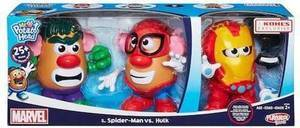 Mr. Potato Head Spiderman vs. Iron Man