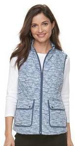 Women's Croft and Barrow Quilted Woven Vest