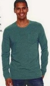 All Men's SONOMA Flexwear Long Sleeve Crewneck Pocket Tees