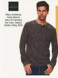 Marc Anthony Men's Long-Sleeve T-Shirts and Henleys
