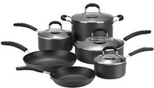 Cooks 10-Piece Hard-Anodized Nonstick Set After Rebate