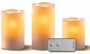 Apothecary 3-Piece LED Candle Set