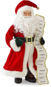 "North Pole Trading Co. Christmas Cheer 18"" Traditional Santa With List 18"" Santa"
