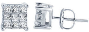 1/2 CT. T.W. Diamond Studs