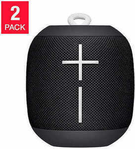 UE Wonderboom Portable Waterproof Bluetooth Speaker 2-Pack