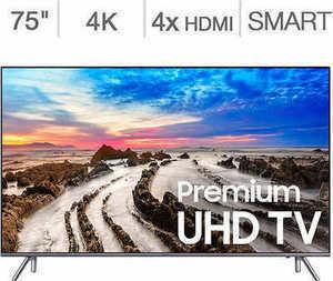 "Samsung 75"" Class 4K Ultra HD LED LCD TV"