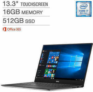 "Dell XPS 13"" Touchscreen Laptop w/ Core i7 CPU"