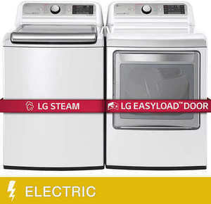 LG 7600 Top Load Pair w/ Steam Washer and Easy Load Dryer