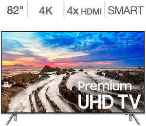 "Samsung 82"" 4K Ultra HD LED LCD TV"