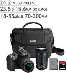 Nikon D3400 DSLR Camera 2 Lens Bundle