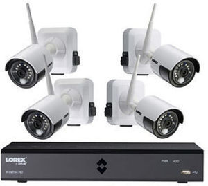 Lorex 6-Channel 4-Camera 1080p Wire-Free Security System with 1TB HDD DVR