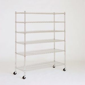 "Berkley Jensen 48"" 6-Shelf Chrome Rack"