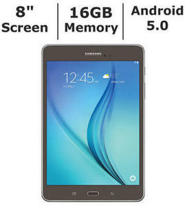 "Samsung Galaxy Tab A 8"" Tablet, 16GB Memory, Bonus Sleeve"