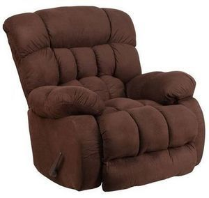 Contemporary Softsuede Microfiber Rocker Recliner