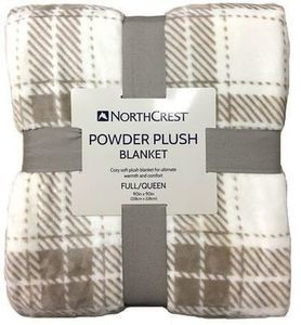 Northcrest Powder Plush Throw