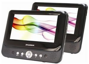 Sylvania 7 Dual Screen Portable DVD Player