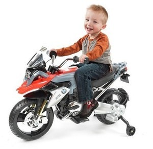 Rollplay Kids' Ride On BMW Motorcycle - Red/Gray