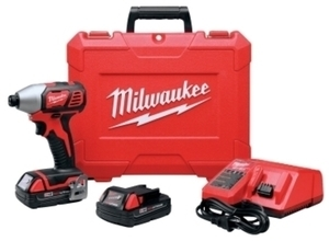 Milwaukee Quick Change Hex Impact Driver Kit 18 volts 2750 rpm 1/4 in. Cordless Lithium Ion