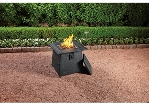 Living Accents Square LP Gas Fire Pit