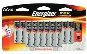 Energizer 16 AA Alkaline Batteries w/ Card