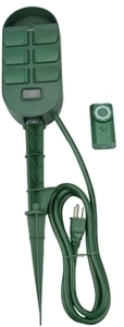 Coleman Cable 6 Outlet Power Stake w/ Timer & Remote