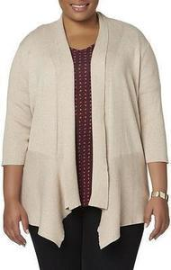 Simply Emma Women's Plus Shawl Cardigan