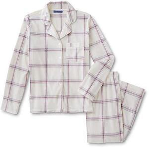 Simply Styled Women's Button-Front Pajama Shirt & Pants