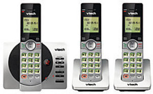 VTech 3-Handset DECT 6.0 Expandable Cordless Phone With Digital Answering System
