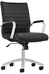 Realspace Modern Comfort Series Winsley Mid-Back Bonded Leather Chair